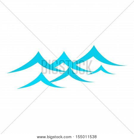 Little sea waves icon. Cartoon illustration of little sea waves vector icon for web
