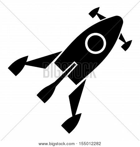 Little rocket icon. Simple illustration of little rocket vector icon for web