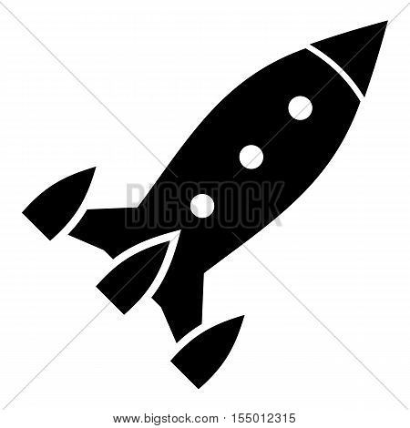 Aircraft rocket icon. Simple illustration of aircraft rocket vector icon for web