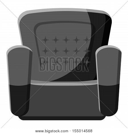 Armchair icon. Gray monochrome illustration of armchair vector icon for web