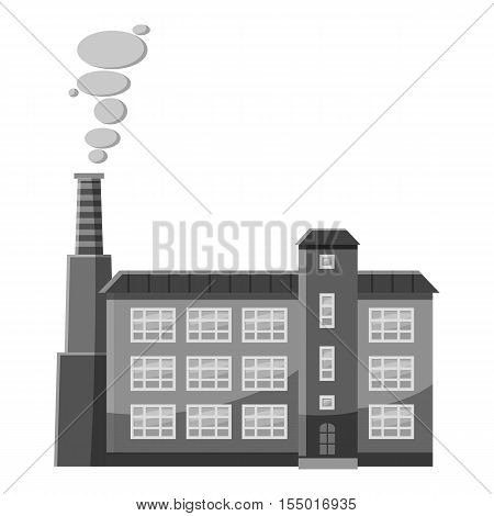 Factory pipe icon. Gray monochrome illustration of factory pipe vector icon for web