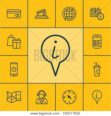 Set Of Airport Icons On Operator, Appointment And Info Pointer Topics. Editable Vector Illustration.