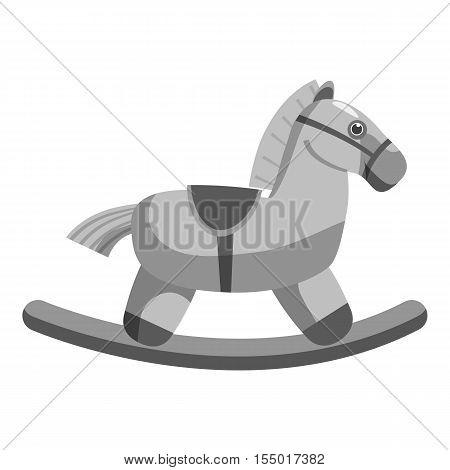 Horse rocking icon. Gray monochrome illustration of horse rocking vector icon for web