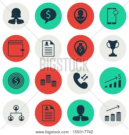 Set Of Hr Icons On Money, Female Application And Tree Structure Topics. Editable Vector Illustration