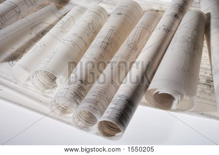 Rolled-Up Construction Drawings