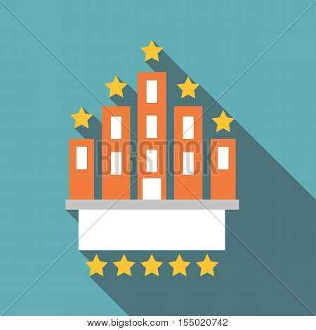 Hotel five stars icon. Flat illustration of hotel five stars vector icon for web