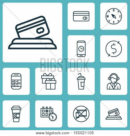 Set Of Airport Icons On Money Trasnfer, Credit Card And Calculation Topics. Editable Vector Illustra
