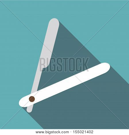 Straight razor icon. Flat illustration of straight razor vector icon for web