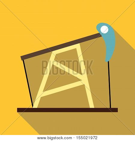 Oil pump icon. Flat illustration of oil pump vector icon for web