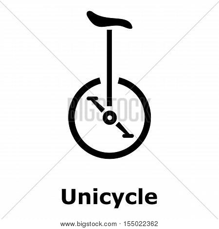 Unicycle icon. Simple illustration of unicycle vector icon for web