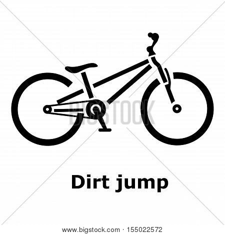 Dirt jump bike icon. Simple illustration of dirt jump bike vector icon for web
