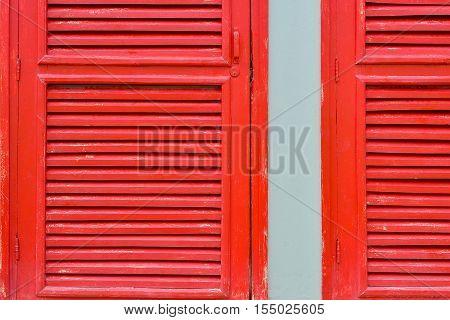 Red beautiful sun shade window natural light
