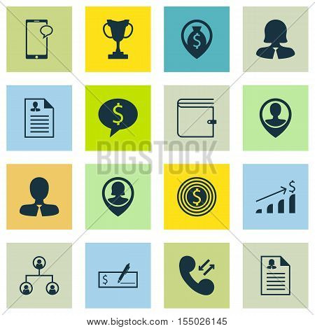 Set Of Hr Icons On Money Navigation, Bank Payment And Messaging Topics. Editable Vector Illustration