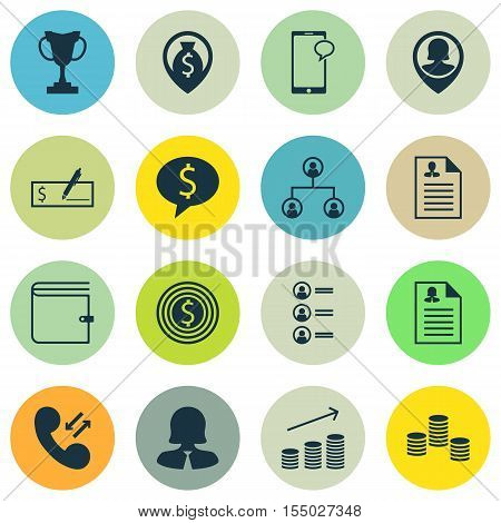 Set Of Hr Icons On Messaging, Money And Pin Employee Topics. Editable Vector Illustration. Includes