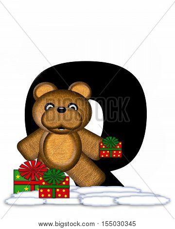 Alphabet Teddy Christmas Q