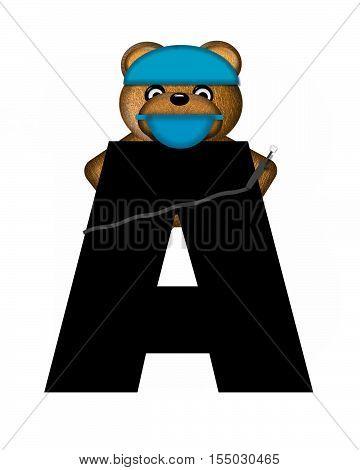 Alphabet Teddy Dental Checkup A
