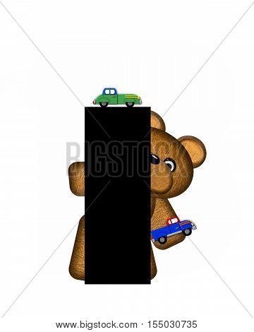 Alphabet Teddy Driving Cars I
