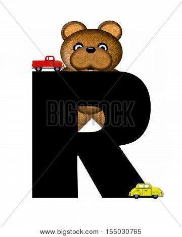 Alphabet Teddy Driving Cars R
