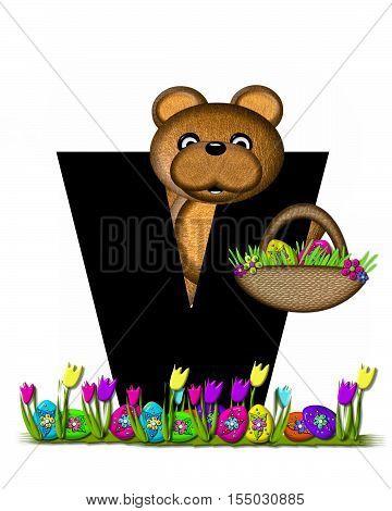 Alphabet Teddy Easter Egg Hunt V
