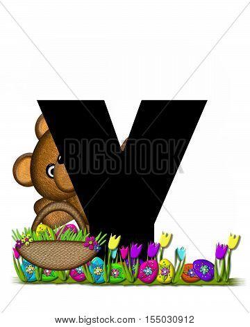 Alphabet Teddy Easter Egg Hunt Y