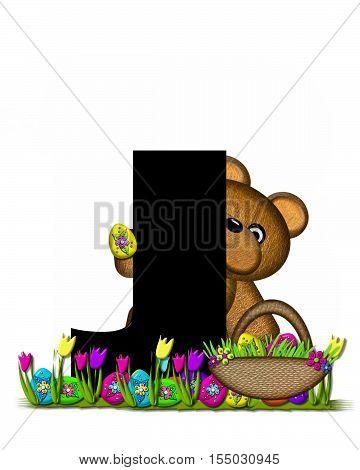 Alphabet Teddy Easter Egg Hunt J