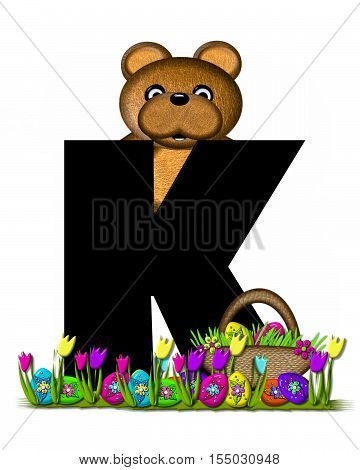 Alphabet Teddy Easter Egg Hunt K