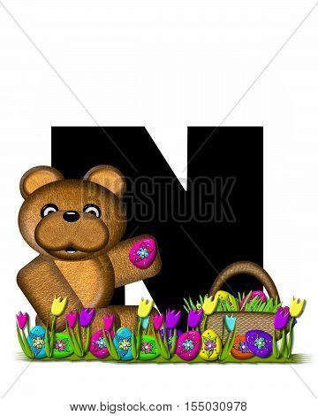 Alphabet Teddy Easter Egg Hunt N