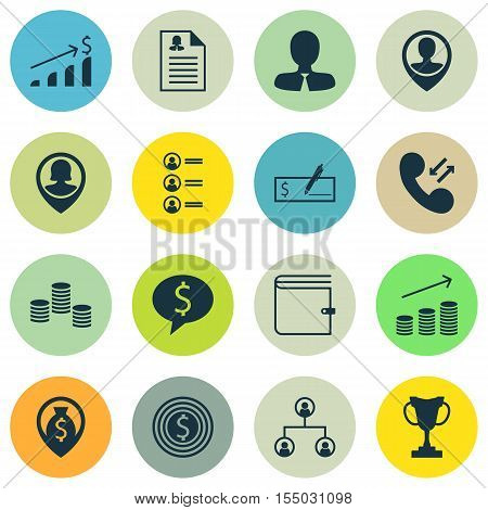 Set Of Hr Icons On Business Deal, Successful Investment And Bank Payment Topics. Editable Vector Ill