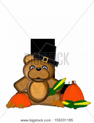 Alphabet Teddy Thanksgiving L