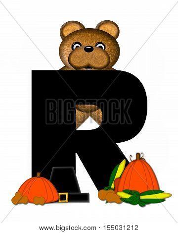 Alphabet Teddy Thanksgiving R