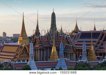 Grand palace called Wat phra keaw, Bangkok Thailand landmark