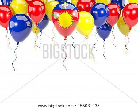 Flag Of Guadeloupe On Balloons