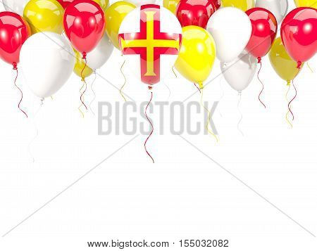Flag Of Guernsey On Balloons