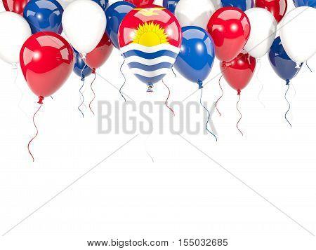 Flag Of Kiribati On Balloons