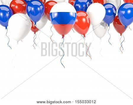 Flag Of Russia On Balloons