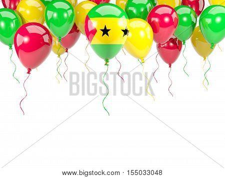 Flag Of Sao Tome And Principe On Balloons