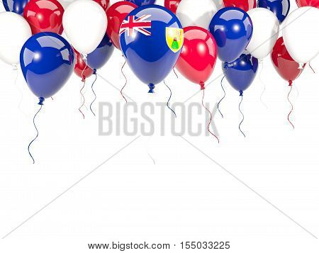 Flag Of Turks And Caicos Islands On Balloons