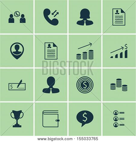 Set Of Hr Icons On Employee Location, Business Deal And Business Goal Topics. Editable Vector Illust