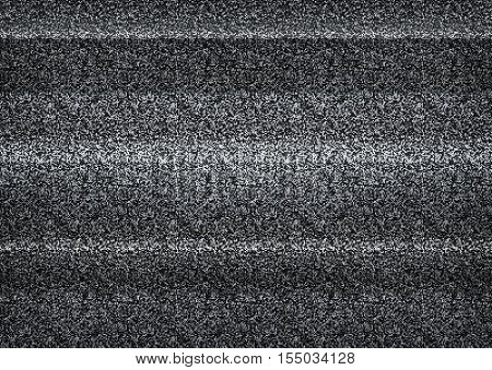Static Tv Noise, Bad Tv Signal, Black And White, Monochrome