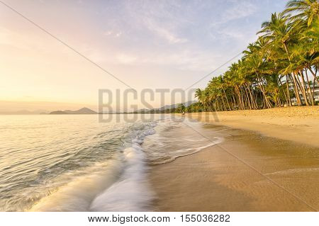 Sunrise at Palm Cove beach in Cairns, North Queensland