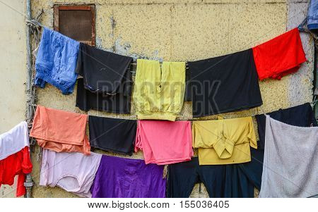 Clothing Dried In The Sun