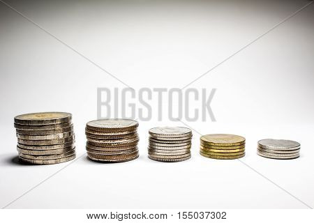 Stack Of Coins With The King.