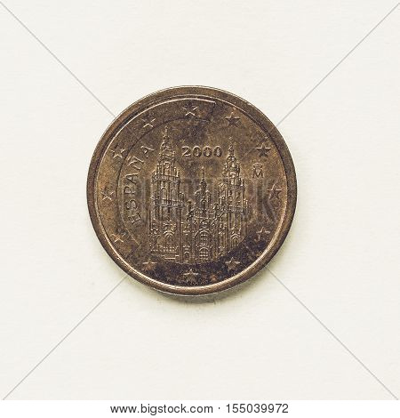 Vintage Spanish 2 Cent Coin