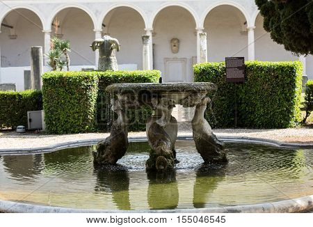 ROMA, ILTALY - JUNE 12, 2015: The baths of Diocletian (Thermae Diocletiani) in Rome. Italy