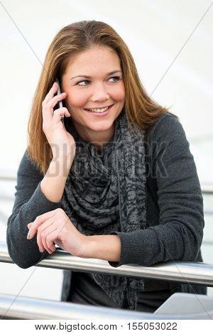 Young Woman Calling With Smartphone