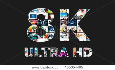 Tv Ultra Hd. 8K Television Resolution Technology.
