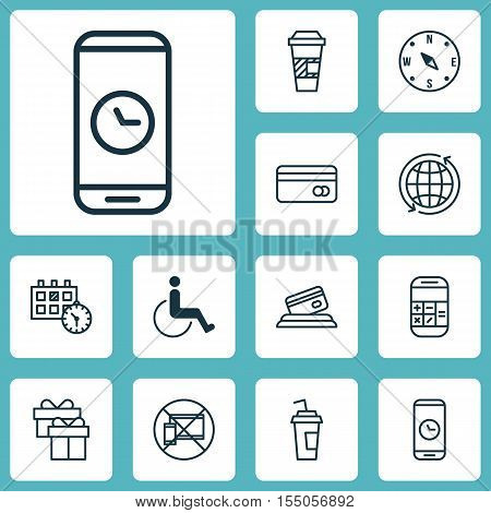 Set Of Travel Icons On World, Locate And Present Topics. Editable Vector Illustration. Includes No,