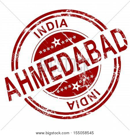 Red Ahmedabad Stamp