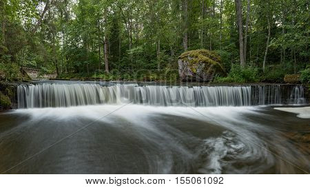 Waterfall in Lahemaa National Park, Estonia - long exposure shot