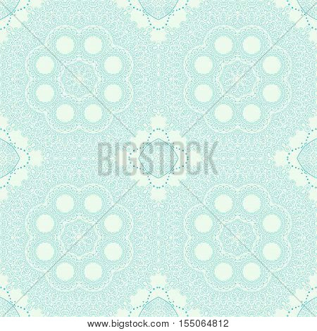 Abstract seamless background. Filigree gentle vector design.